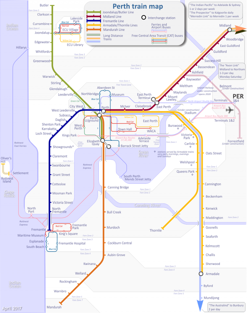 Perth Train Map