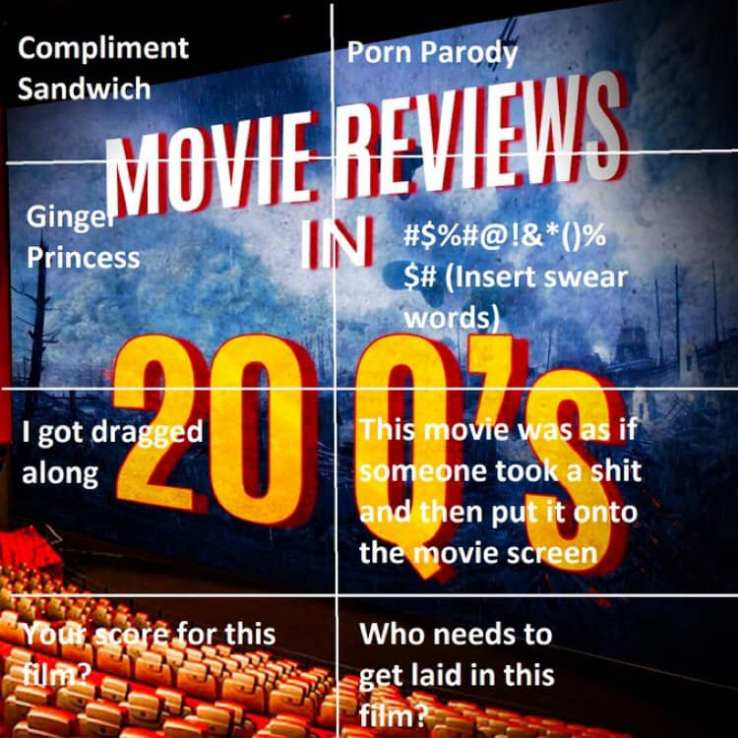 Movie Reviews in 20 Q's Bingo
